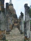 Pillars and Ancient Pagoda Royalty Free Stock Photos
