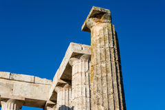 Pillars of ancient Zeus temple Royalty Free Stock Photos