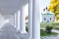 Pillars and Arch Hallway Russia Suzdal Royalty Free Stock Image