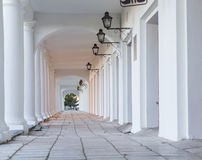 Pillars and Arch Hallway Russia Suzdal Stock Image
