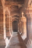 The pillars of Badami Cave temples, India Stock Image