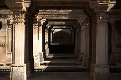 Pillars. Beautiful concentric pillars of an ancient architectural structure in India Royalty Free Stock Photo