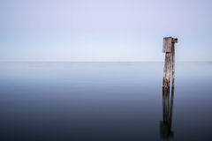 Pillars for a berth in the Baltic Sea Royalty Free Stock Photography