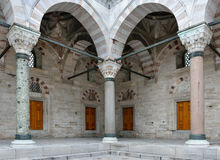 Pillars at Beyazit Mosque Stock Image