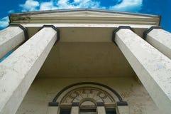 Pillars on blue sky background royalty free stock photo
