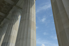 Pillars with Blue Sky and Clouds Royalty Free Stock Images
