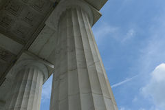 Pillars with Blue Sky and Clouds Royalty Free Stock Photography
