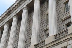 Pillars and Brick Wall Stock Image