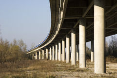 Pillars of the bridge Royalty Free Stock Photos