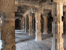 Pillars at Brihadeshwara Temple at Thanjavur Royalty Free Stock Photos