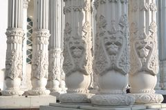Pillars of the Building 30's Royalty Free Stock Photos