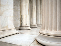 Pillars of a building in Athens Greece Stock Photo