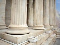Pillars of a building in Athens Greece Stock Photos