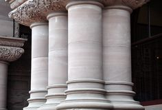 Pillars of a building Stock Photos