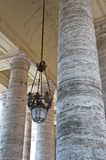 Pillars and chandelier Royalty Free Stock Photo