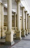 Pillars on colonnade Royalty Free Stock Images