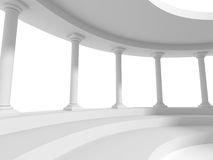 Pillars columns design architecture background. 3d render illustration Stock Photography