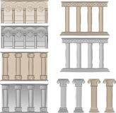 Pillars and columns  illustrations Stock Photography