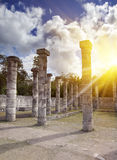 1000 pillars complex at Chichen Itza site, Yucatan, Mexico Stock Photos