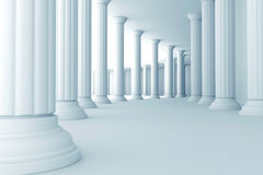 Pillars in corridor Royalty Free Stock Image