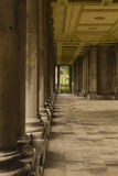 Pillars and covered walkway, Old Royal Naval College. King William Walk, Greenwich, London, England, United Kingdom Stock Photos