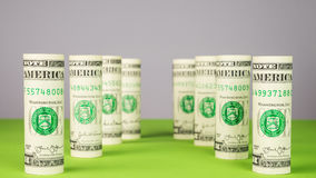 Pillars from dollar money Stock Photography