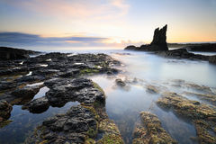 Pillars of Earth Cathedral Rock, Kiama Stock Image