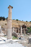 Pillars at Ephesus, Izmir, Turkey, Middle East.  Stock Photo