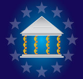 Pillars of the Euro. Greek banks are pillars of the Euro Royalty Free Stock Photo