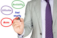 The pillars of food security exlained Royalty Free Stock Images