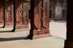 Pillars at Fort Agra Stock Images
