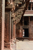 Pillars at Fort Agra stock photography
