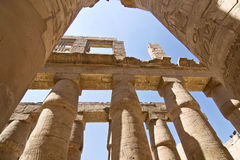 Pillars of the Great Hypostyle Hall at Karnak Stock Images