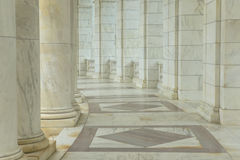 Pillars in a Hallway Stock Photography