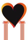 Pillars with heart - vector Royalty Free Stock Photos