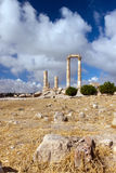 Pillars of Hercules in Amman Citadel Stock Images