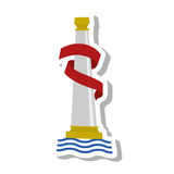 Pillars of Hercules emblem. Vector illustration design Royalty Free Stock Image
