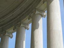 Pillars at the Jefferson Memorial. Pillars of the Jefferson Memorial royalty free stock photos