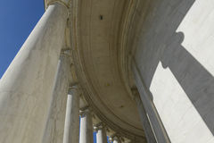 Pillars. At Jefferson Memorial in Washington DC Stock Image