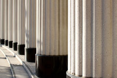 Pillars of justice. Pillars at the court house in downtown Royalty Free Stock Photography