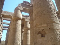 Pillars in Karnak Temple Royalty Free Stock Images