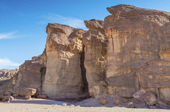 Pillars of the king Solomon in geological Timna park Royalty Free Stock Photography