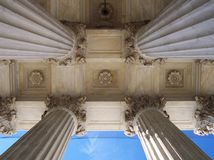 Pillars of the Law. The columns of the Supreme Court Stock Image