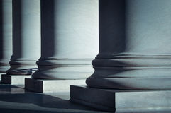 Pillars of Law Stock Photography