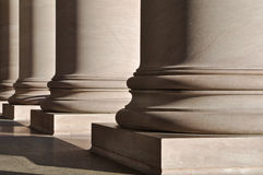 Pillars of Law and Education Stock Images