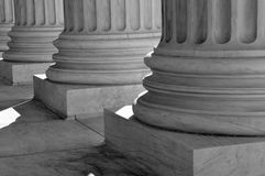 Pillars of Law and Justice Royalty Free Stock Images