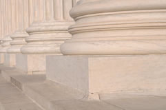 Pillars of Law and Justice Stock Image