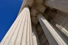 Pillars of Law and Justice Royalty Free Stock Photos