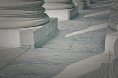 Pillars of Law and Justice. US Supreme Court Royalty Free Stock Images
