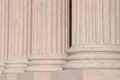 Pillars of Law and Justice. US Supreme Court Royalty Free Stock Photography